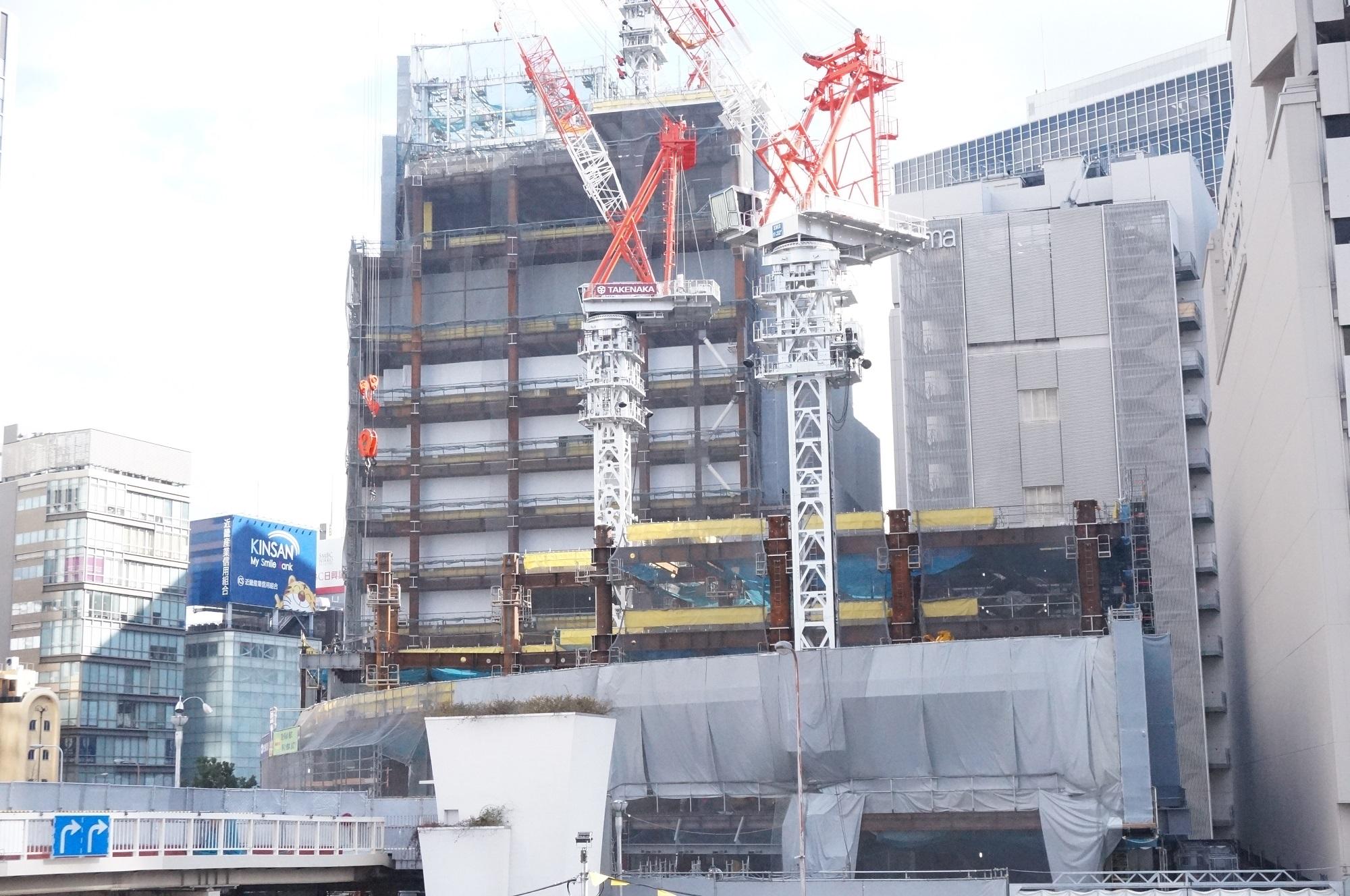 阪神百貨店の改修工事の様子を見てきた