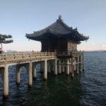 堅田落雁で知られる満月寺・浮御堂を訪れた